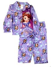 Disney Girls Princess Sophia the 1st 2 Pc Fleece Button Up Pajama Set NWT    3T