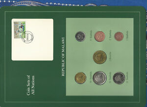 Coin Sets of All Nations Malawi 1995-1996 UNC 1 Kwacha 50,20 Tambala 1996