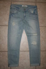 NWT Abercrombie Girls 12 Distressed Cuffed Bottom Jeans