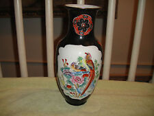Superb Maderi China Antique Chinese Vase-Peacock Bird Pattern-Bright Colors-LOOK