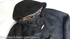Aquascutum à capuche duffle coat gris anthracite MADE UK SZ 40 BNWT