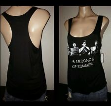 5 SECONDS OF SUMMER RACERBACK MUGSHOT LG LARGE BLACK WOMENS TANK TOP SHIRT NWT