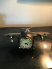 Vintage? Unique Metal Airplane Clock.