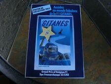 Team Gitanes Formel 1-Aufkleber/Sticker,GP-Belgien 1983,Sammlerstück,rar,Nr.2