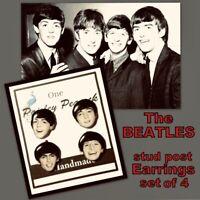 The Beatles Earrings English Rock Band John Lennon Paul McCartney Ringo George