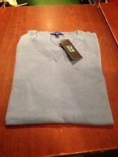 PGA Tour Cotton jumper. Size XL. Troon Blue. V-Neck. long sleeves
