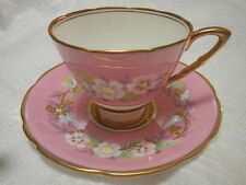 Vintage Royal Stafford Garland Tea Cup Set Hand Painted England