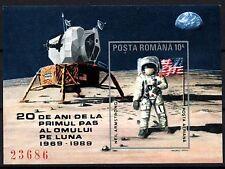 1620 Romania 1989 1st Moon Landing 20th anniv Block MNH