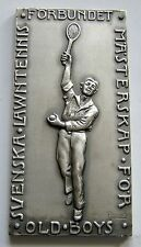 f952 Sweden TENNIS Federation Championship 1943 Old Boys Award Sport silvered