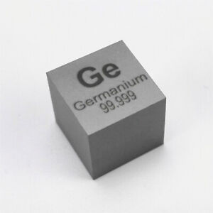 Germanium Metal Density Cube 10mm 99.999% 5.3g for Element Collection