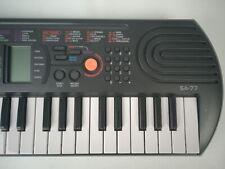 Casio SA77 Keyboard Tasteninstrument 44 Minitasten 100 Klangfarben schwarz grau