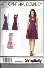 Simplicity # 1607 Cynthia Rowley dress Size 6-14