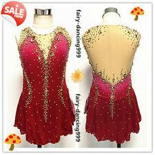 Ice Figure Skating Dress Red Ombre Dance Dress Girl Size 10 In Store Promotion!