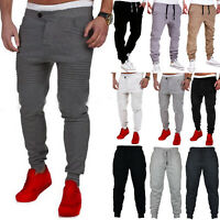 Mens Sweatpants Casual Slim Fit Workout Jogger Long Pants Sport Gym Trousers