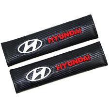 Sports Carbon Fiber Car Seat Belt Covers Shoulder Pads Cushion For Hyundai