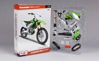 Maisto 1:12 DIY Motorcycle Bike Toys Assemble Kawasaki KX 450F Model Green