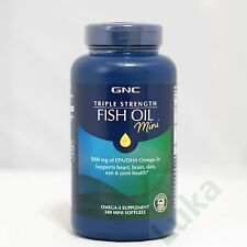 GNC Triple Strength Fish Oil Mini(240 Mini Softgels)-1000 mg of EPA/DHA Omega-3s