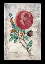 santino incisione 1800 S.FRANCESCO D'ASSISI  dip.a mano