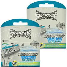 16 Wilkinson Quattro Titanium Sensitive Rasierklingen Neu OVP Aloe Vera