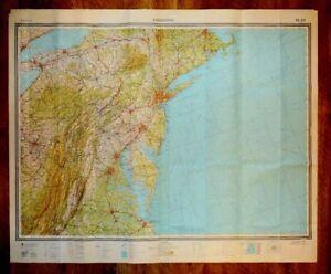 Authentic Soviet Russian Military SECRET Topographic Map WASHINGTON USA
