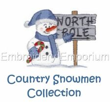 Country Snowmen Collection - Machine Embroidery Designs On Cd Or Usb