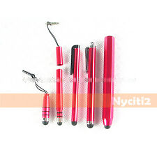 5X RED Universal Capacitive Stylus Touch Pen for Touch Smartphone Tablet Phone