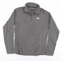 THE NORTH FACE Grey Casual Fleece 1/4 Zip Pullover Jumper Size Womens Medium