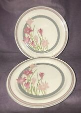 Sango Melody Pink Flowers Dinner Plates (set Of 2)