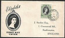 Antigua 1953 Coronation illustrated FDC