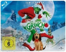 DER GRINCH (Jim Carrey, Christine Baranski) Blu-ray Disc, Steelbook NEU+OVP