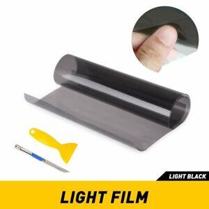 "Light Black 12""x72"" Smoke Headlight Taillight Fog Light Tint Film Vinyl Wrap"