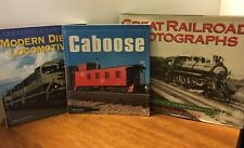 RAILROAD TRAIN Books - Photographs (Hardcover) Modern Diesel, And Caboose Books