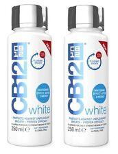 2 x cb12 Bianco collutorio 250ml whitening effetto dopo 2 settimane & Fresh respiro!