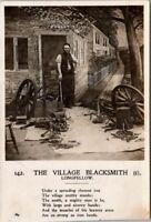 Vintage Post Card Village Blacksmith Longfellow RPCC 1906 142 ( #1 ) Postcard