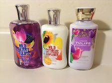 Bath & Body Works Wild Citrus , London Tulips, Wild Berry Body Lotion & Gel 3 Pk