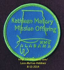 LMH PATCH Badge KATHLEEN MALLORY MISSION OFFERING AL Womans Missionary Union WMU