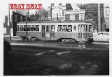 6H591 RP 1950s CINCINNATI STREET RAILWAY CAR #53 ON RT 21
