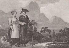1805 Three Antique Engravings- Icelanders, Mt. Hecla - Rhine Falls, Schaffhausen