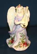 Royal Albert Old Country Roses Musical Angel w/ Lute Christmas Ornament