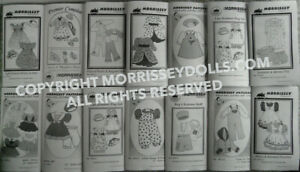 """16"""" Sasha Doll Clothes Pattern Lot of 14 Morrissey Dolls Sewing Patterns"""