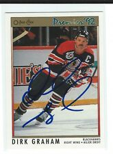 Dirk Graham Signed 1991/92 O-Pee-Chee Premier Card #131