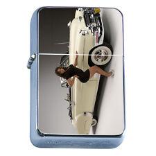 Windproof Refillable Flip Top Oil Lighter Vintage Car D1 Classic Antique