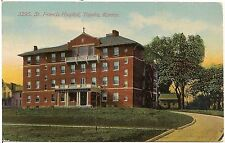 St. Francis Hospital in Topeka KS Postcard 1913