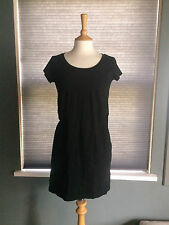 NEW GAP PURE COTTON SEAM DETAIL BLACK SLUB T-SHIRT DRESS X SMALL RRP £39.95