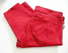 NYDJ Not Your Daughter's Jeans Womens Plus Alina Jeggings Cardinal Red Sz 20W
