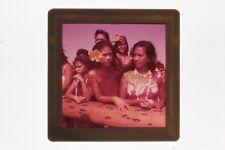 Voyage Tahiti Belles Femmes Diapositive sur Film souple cellulose