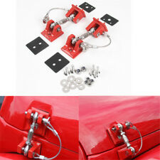 Red Hood Latch Catch Lock Bracket Latches Buckle For Wrangler JK Unlimited