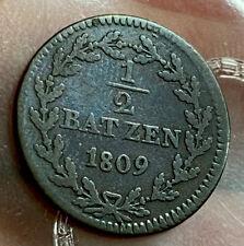 Swiss Canton 1/2 Batzen 1809 Nice Grade