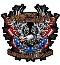 Legends Live Where Legends Soar Eagle Embroidered Back Patch Iron Sew HLPM20479