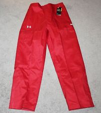 $129 NEW Under Armour STORM Pants RED Men's LARGE L Hydrofuge Loose COLD GEAR